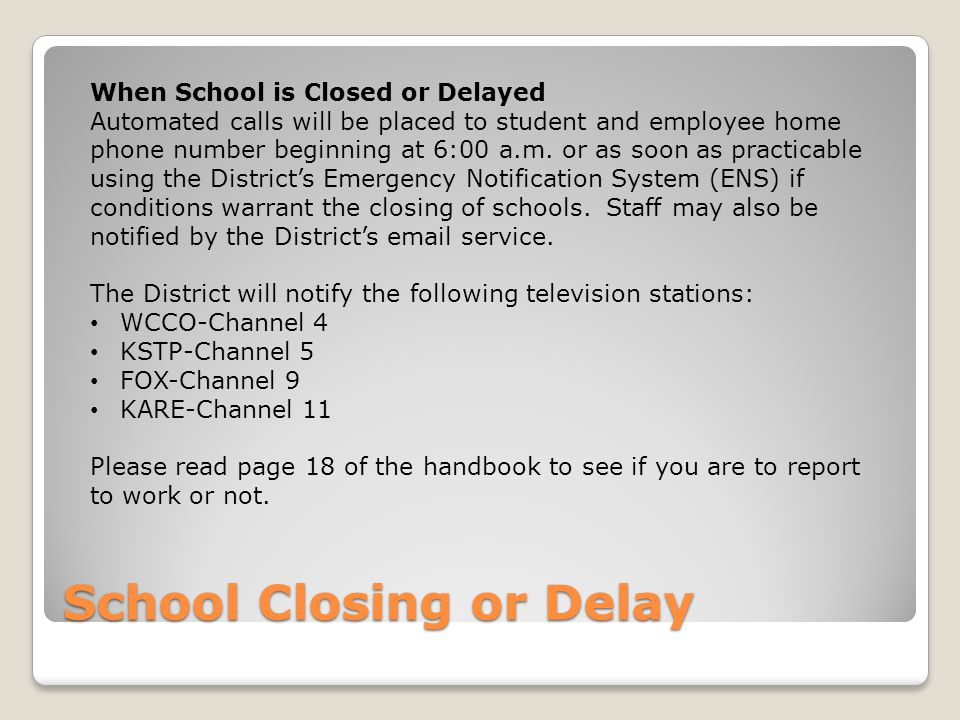 School Closing or Delay