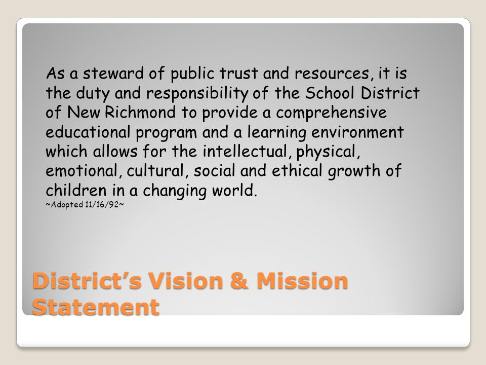 District's Vision & Mission Statement