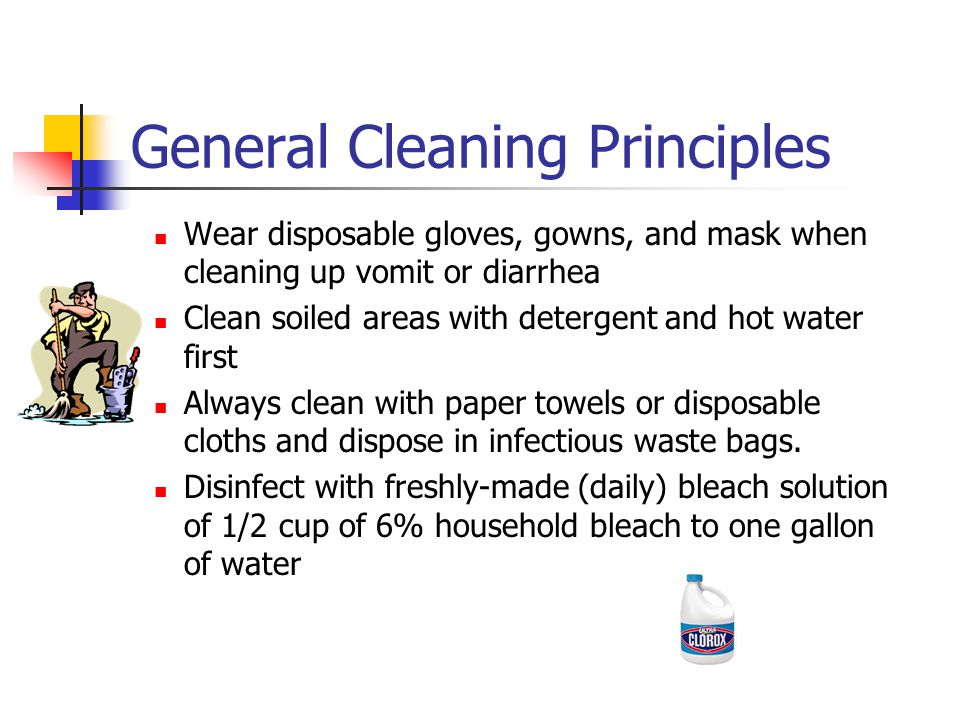 General Cleaning Principles