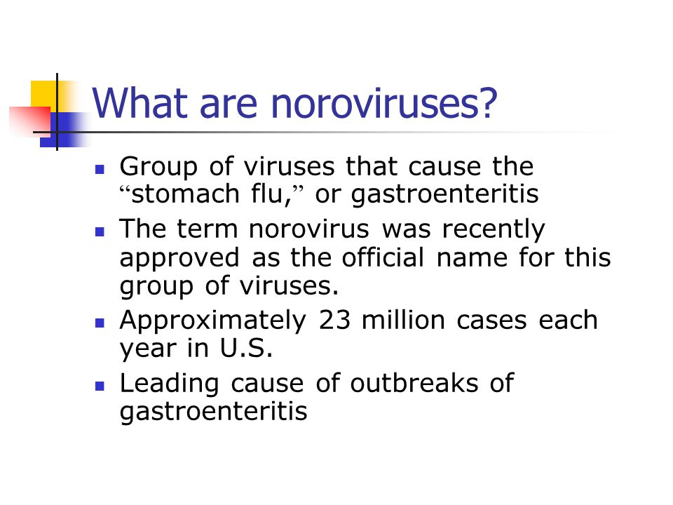 What are noroviruses Group of viruses that cause the stomach flu, or gastroenteritis.