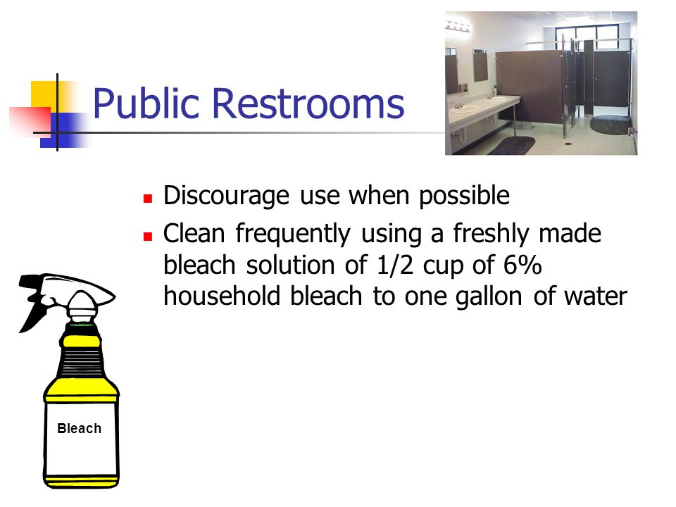 Public Restrooms Discourage use when possible