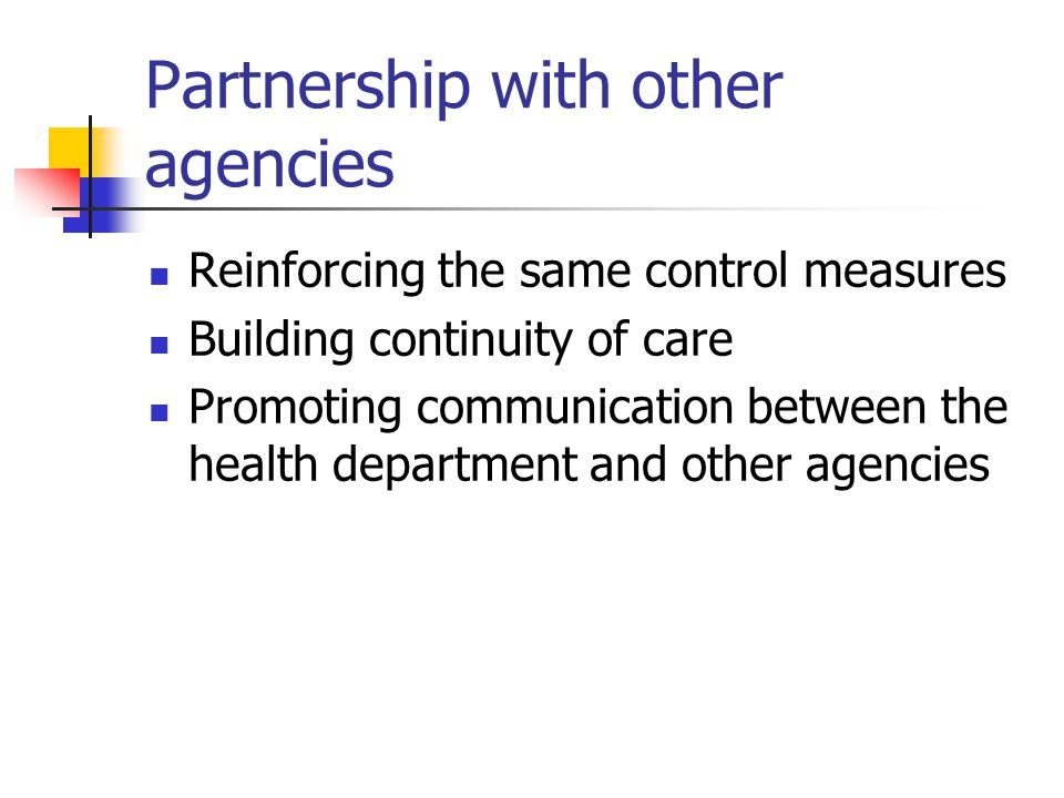 Partnership with other agencies