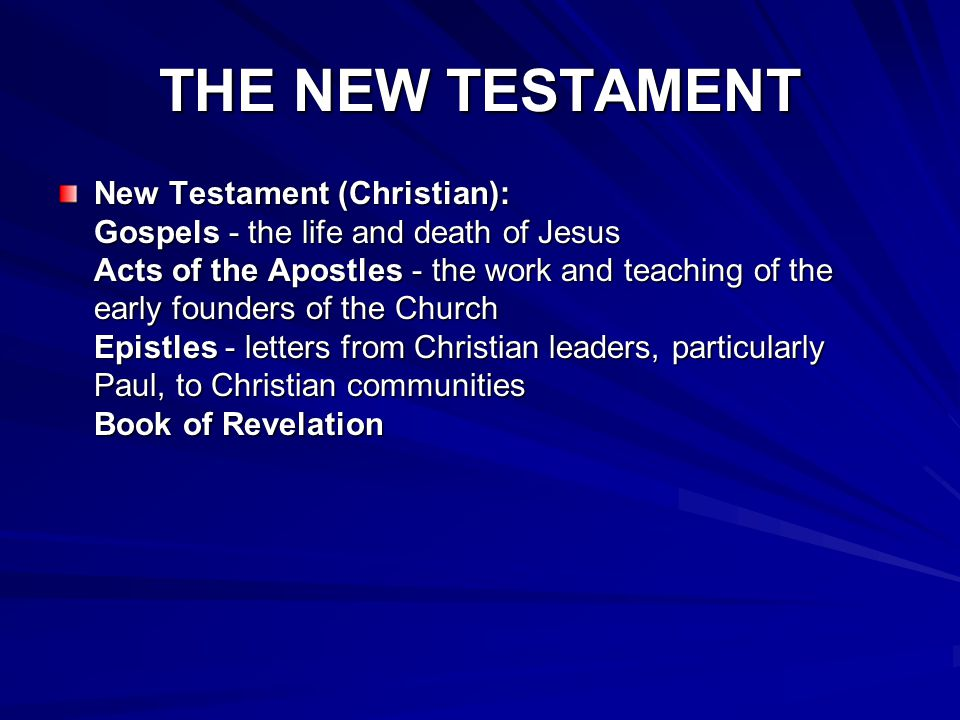 [The Epistles of the New Testament and the book of Revelation