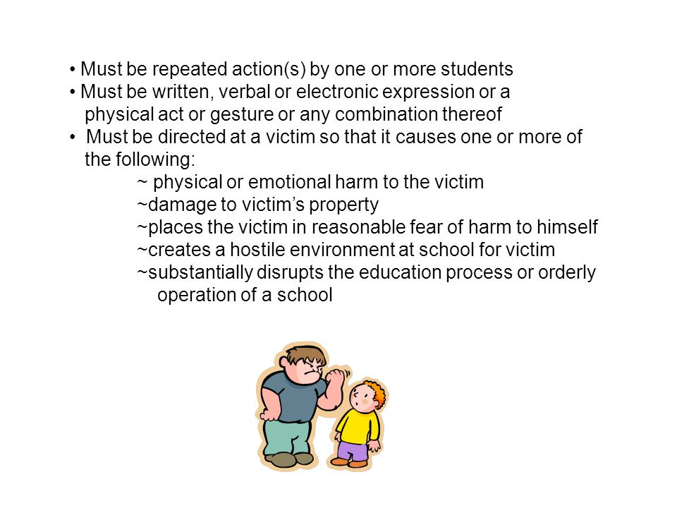 Must be repeated action(s) by one or more students