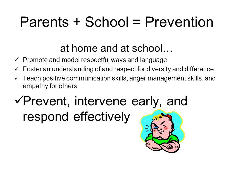 Parents + School = Prevention