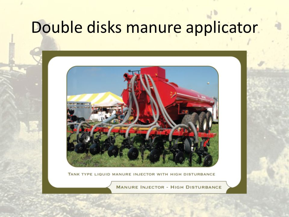 Double disks manure applicator