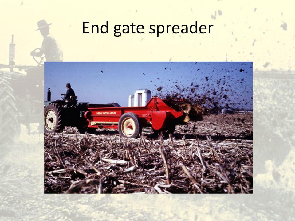 End gate spreader