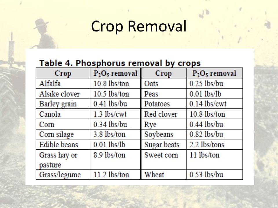 Crop Removal