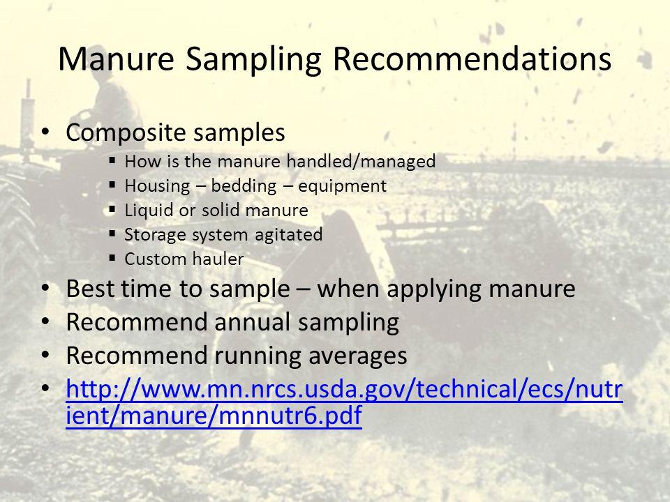 Manure Sampling Recommendations
