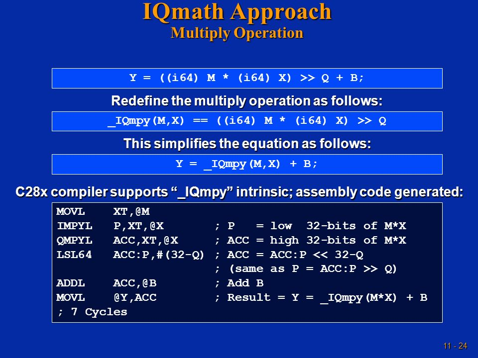 IQmath Approach Multiply Operation