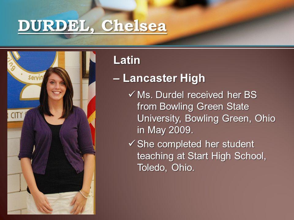 DURDEL, Chelsea Latin – Lancaster High