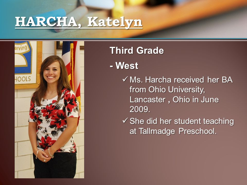 HARCHA, Katelyn Third Grade - West