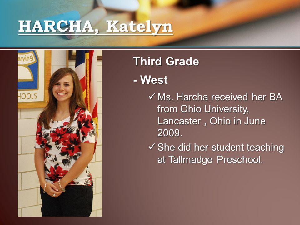 HARCHA, Katelyn Third Grade - West