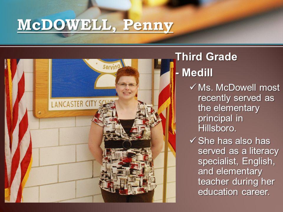 McDOWELL, Penny Third Grade - Medill