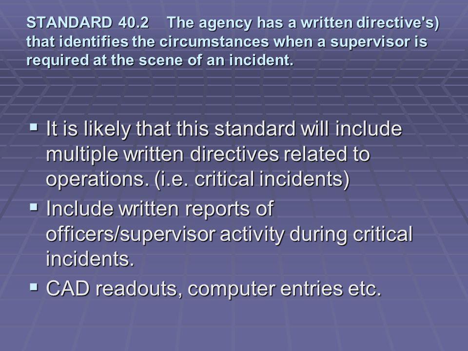CAD readouts, computer entries etc.