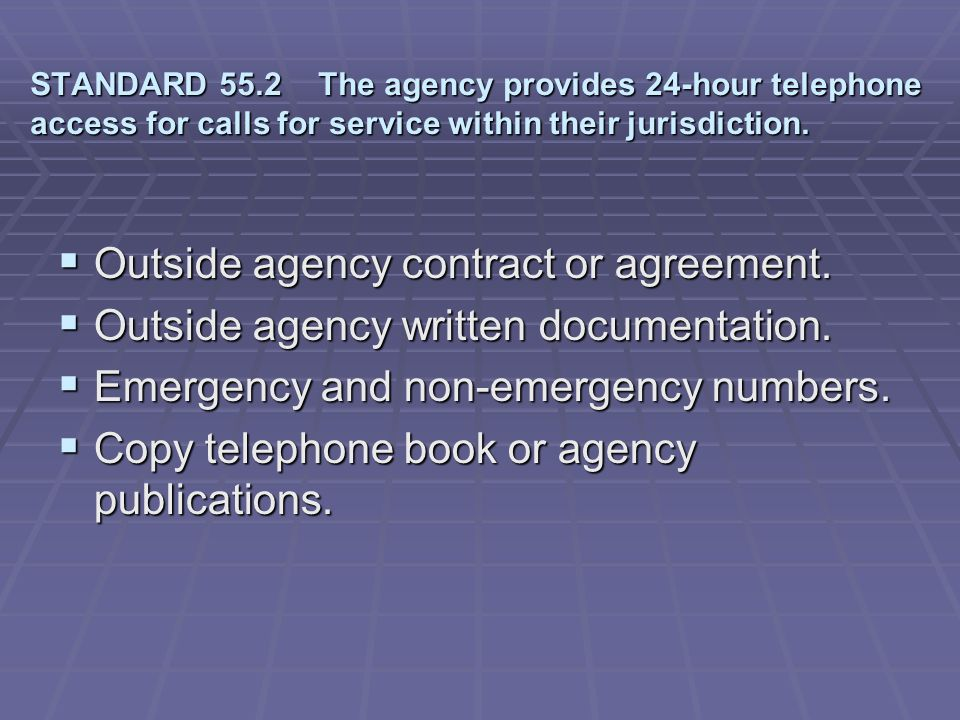 Outside agency contract or agreement.