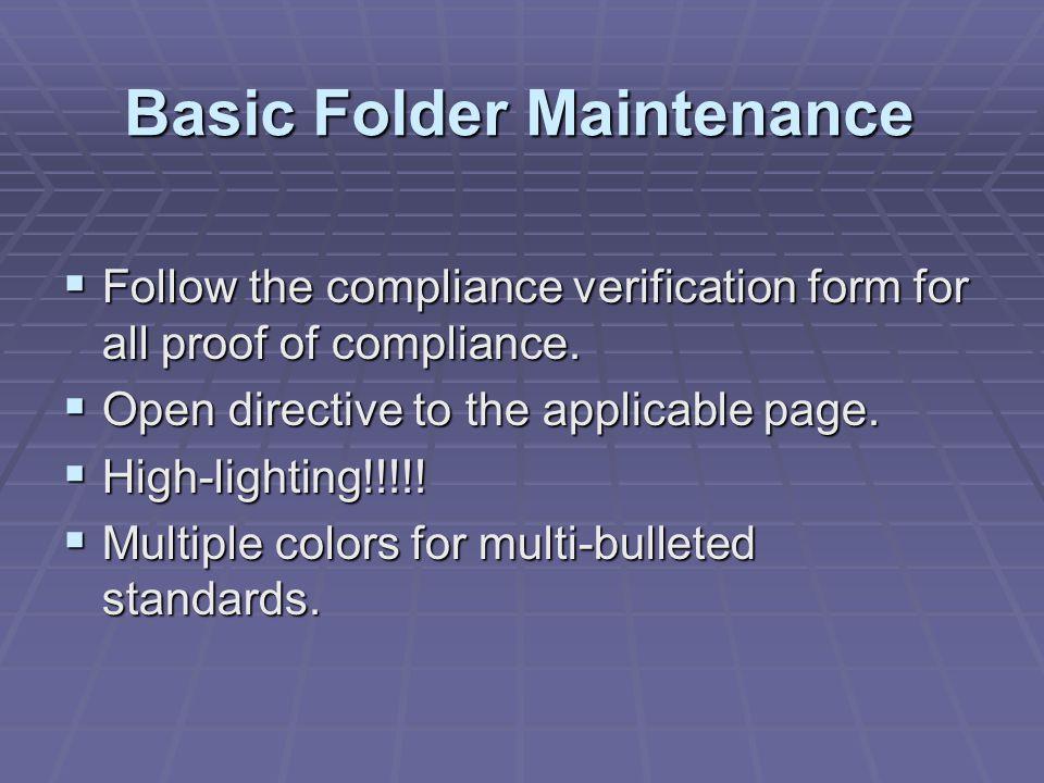 Basic Folder Maintenance
