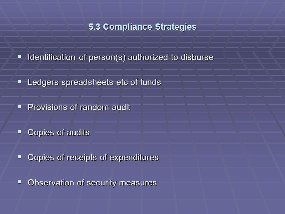 5.3 Compliance Strategies