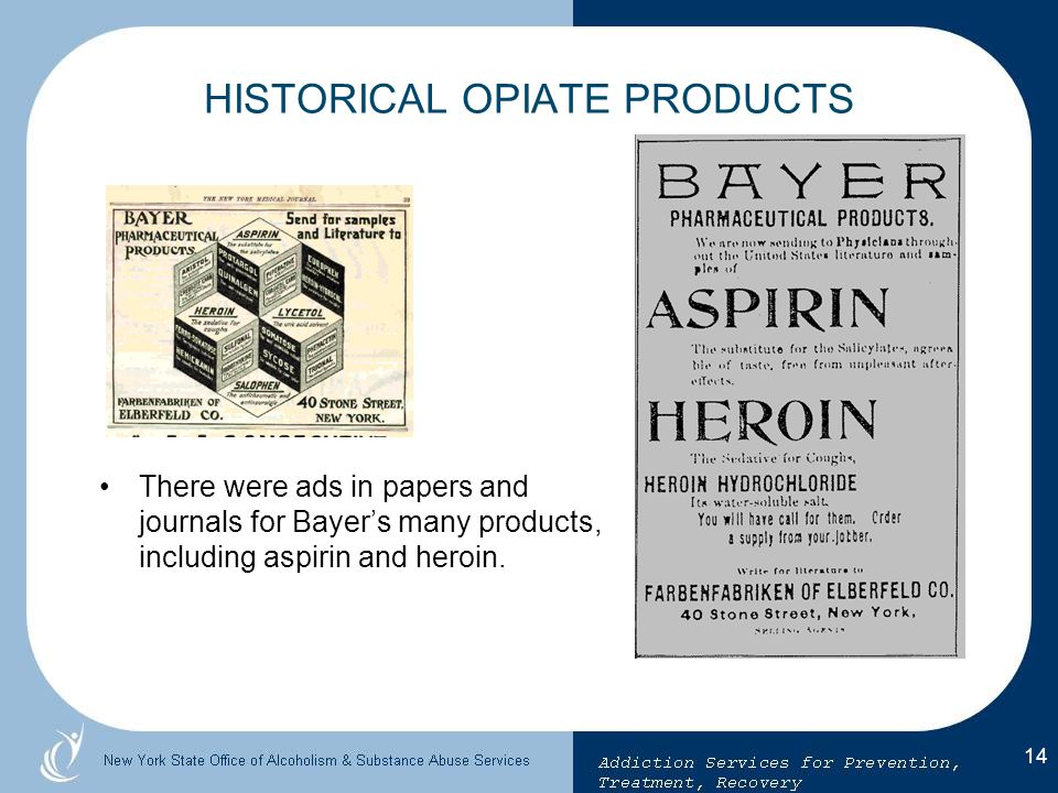 HISTORICAL OPIATE PRODUCTS