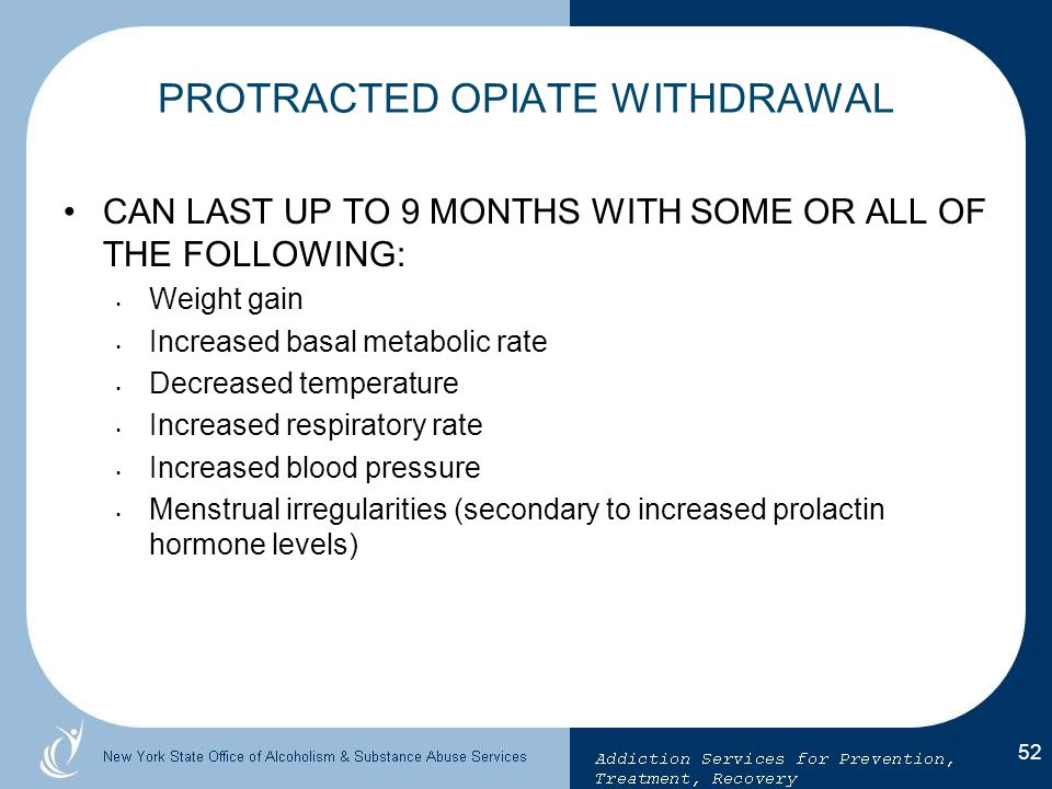 PROTRACTED OPIATE WITHDRAWAL