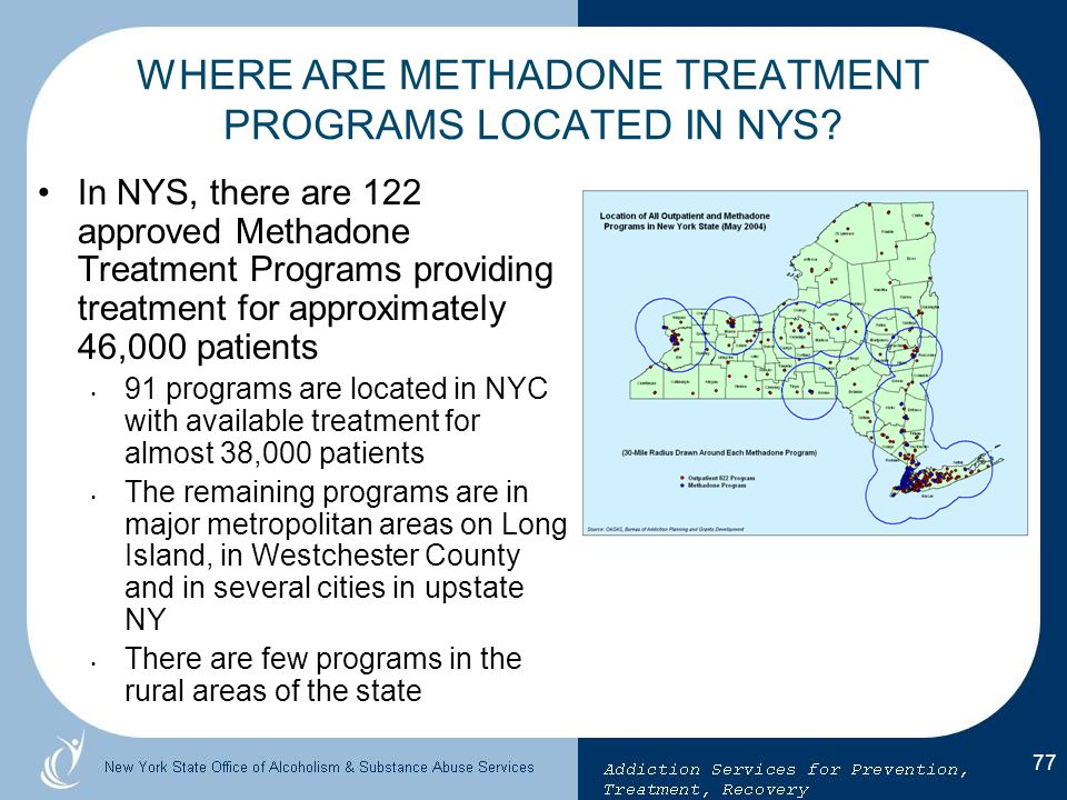 WHERE ARE METHADONE TREATMENT PROGRAMS LOCATED IN NYS