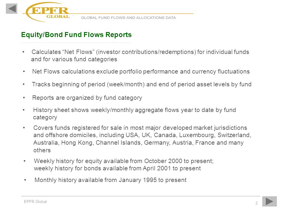 Equity/Bond Fund Flows Reports ………………………………………………………………..…………