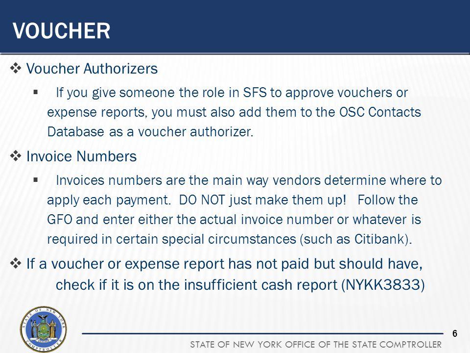 Voucher Voucher Authorizers Invoice Numbers