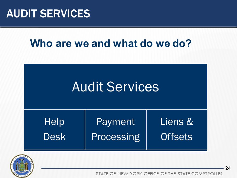 AUDIT SERVICES Who are we and what do we do