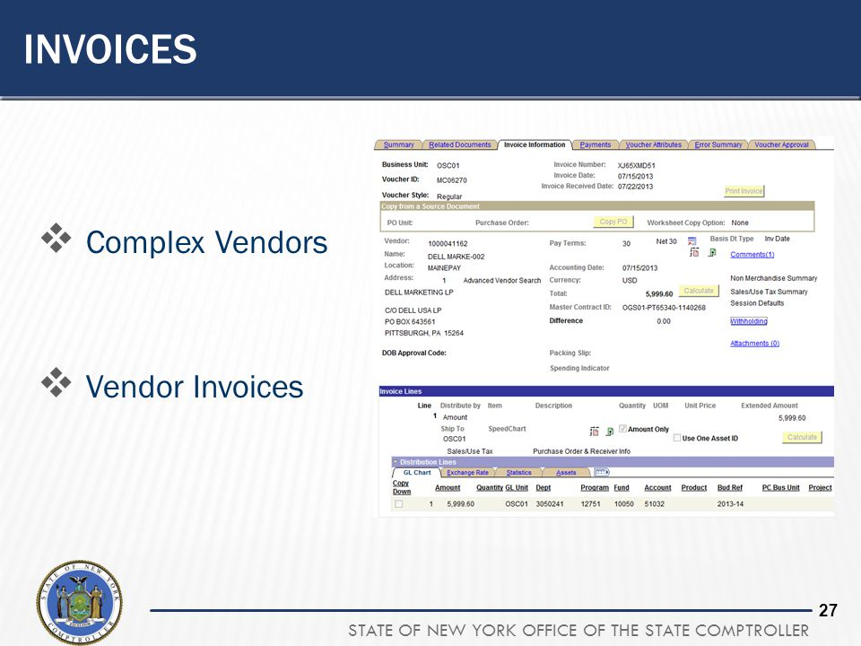 invoices Complex Vendors Vendor Invoices