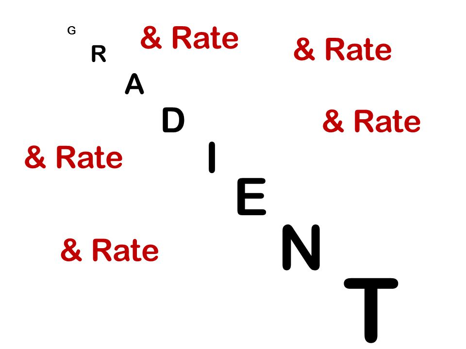 G R & Rate & Rate A D & Rate I & Rate E N & Rate T