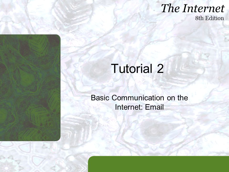 Basic Communication on the Internet: Email