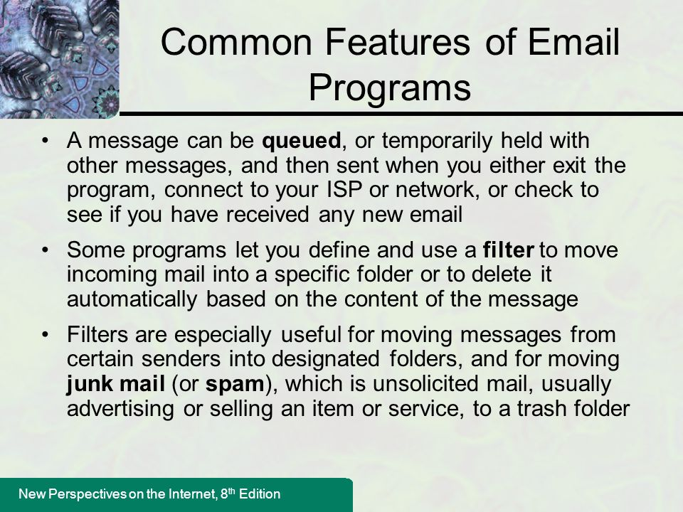 Common Features of Email Programs