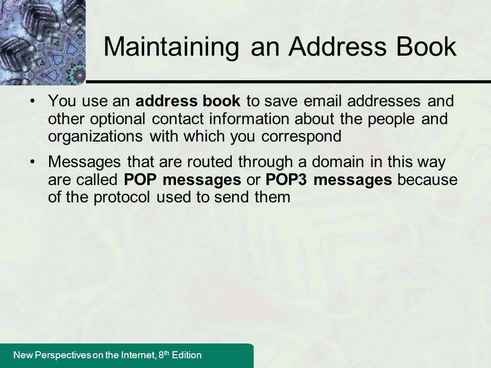 Maintaining an Address Book