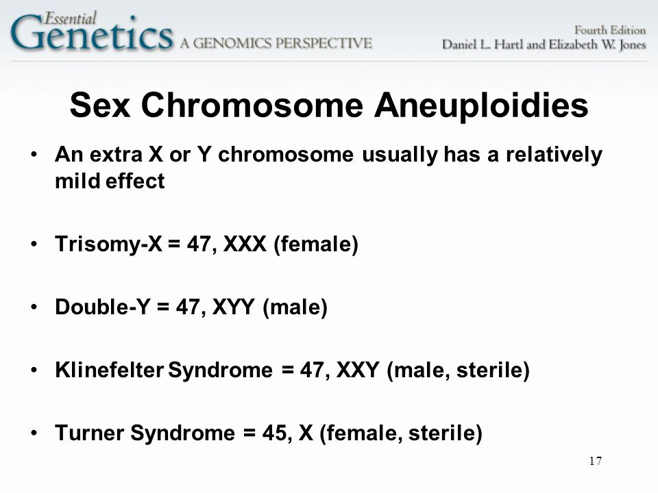 Sex Chromosome Aneuploidies