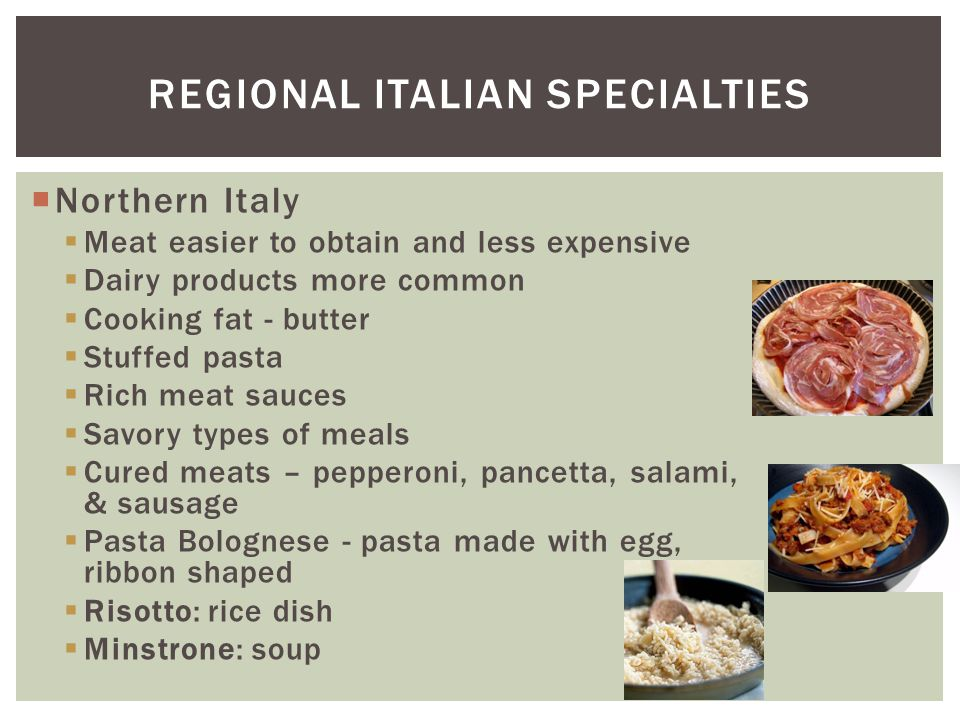 Regional Italian Specialties