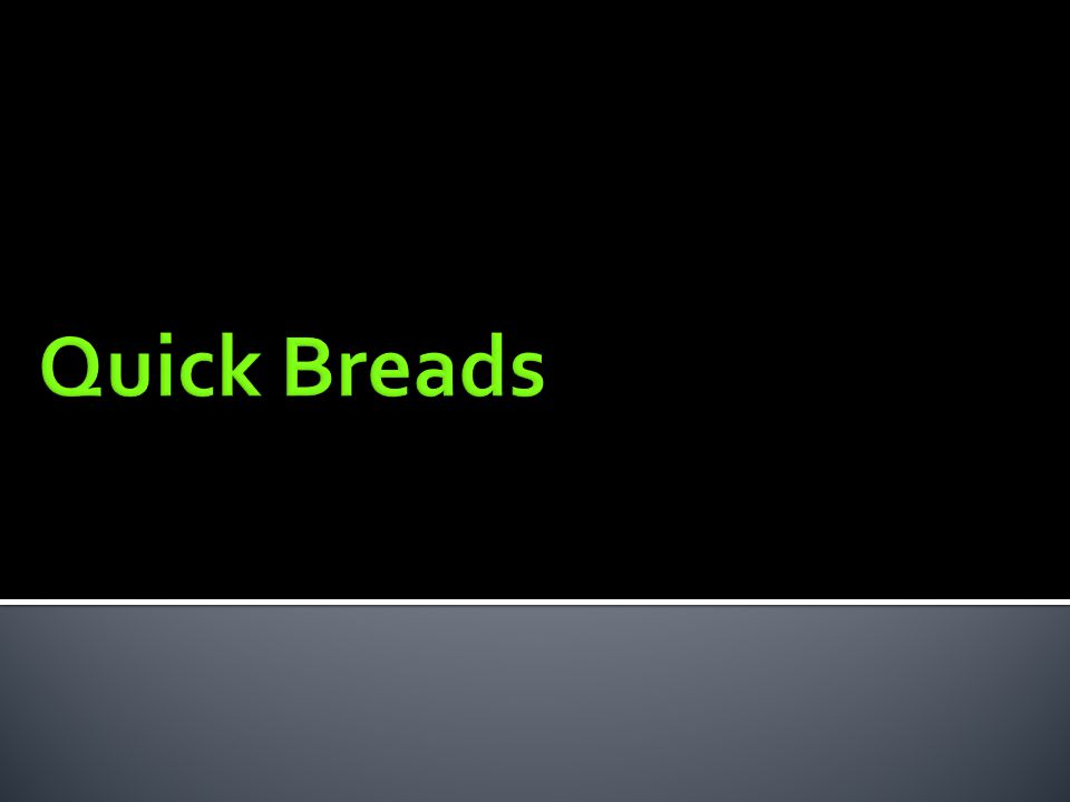 Quick Breads