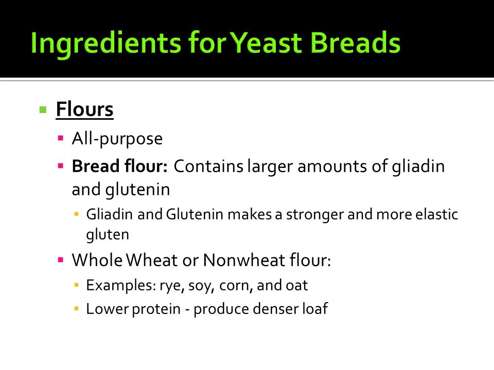 Ingredients for Yeast Breads