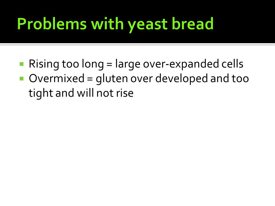 Problems with yeast bread