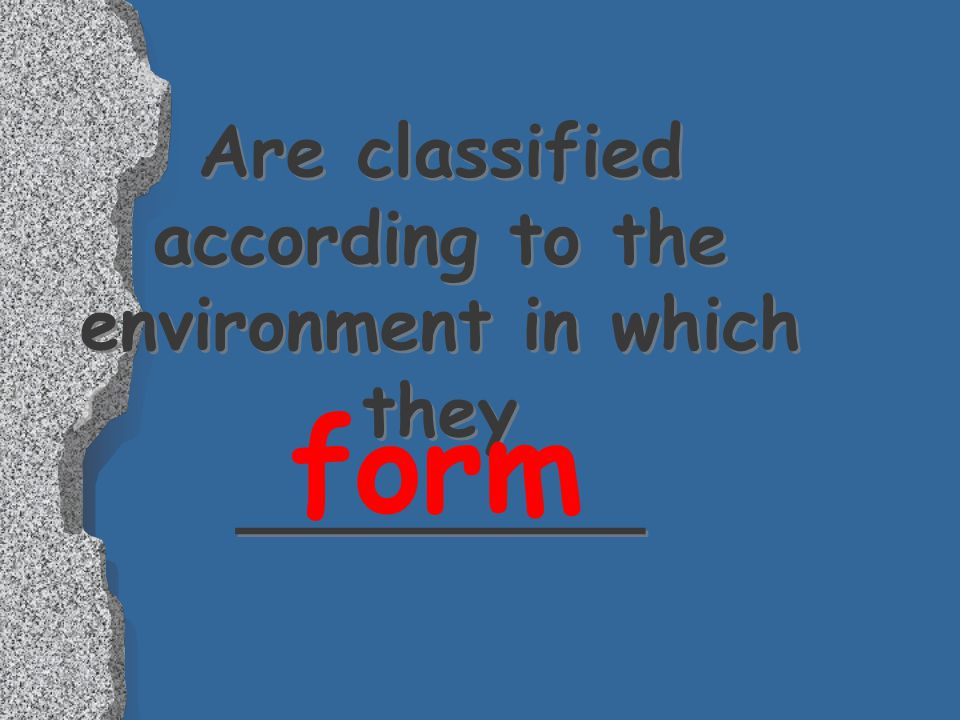Are classified according to the environment in which they _________