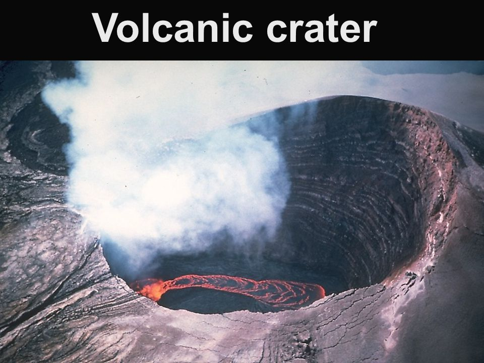 Volcanic crater