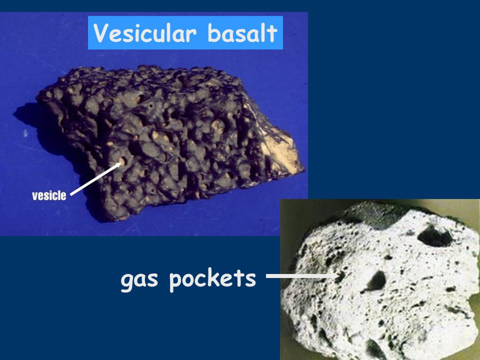 Vesicular basalt gas pockets