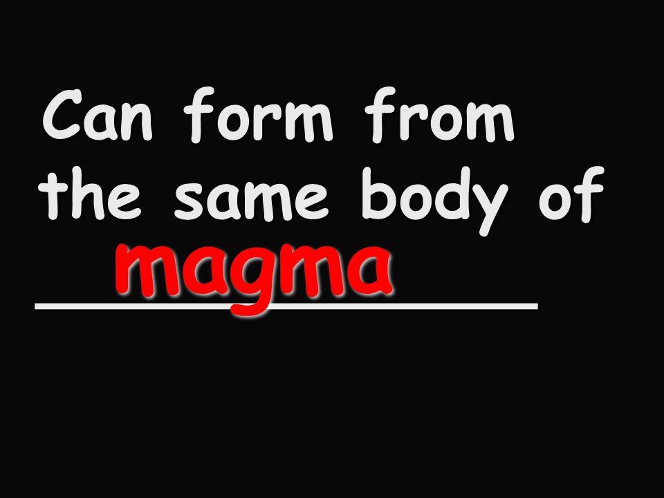 Can form from the same body of ____________