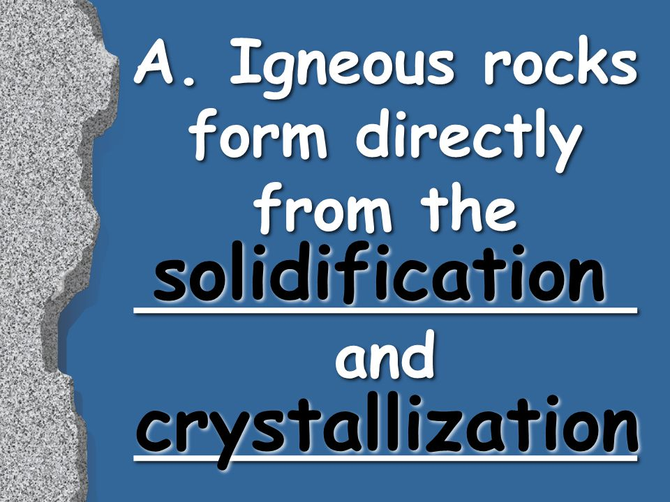 solidification crystallization