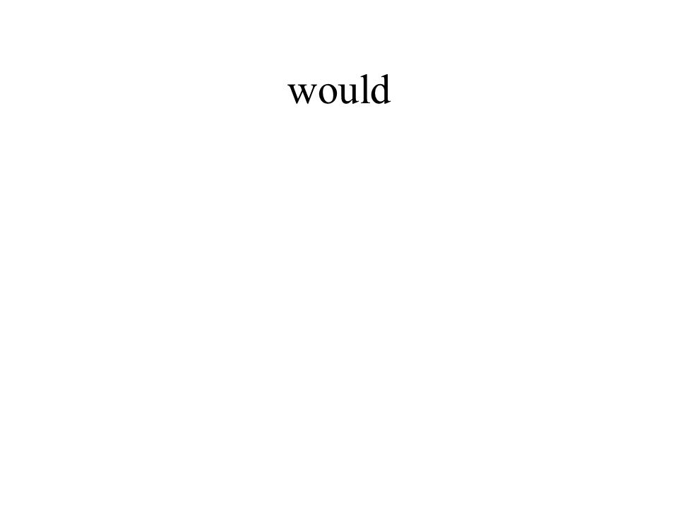 would