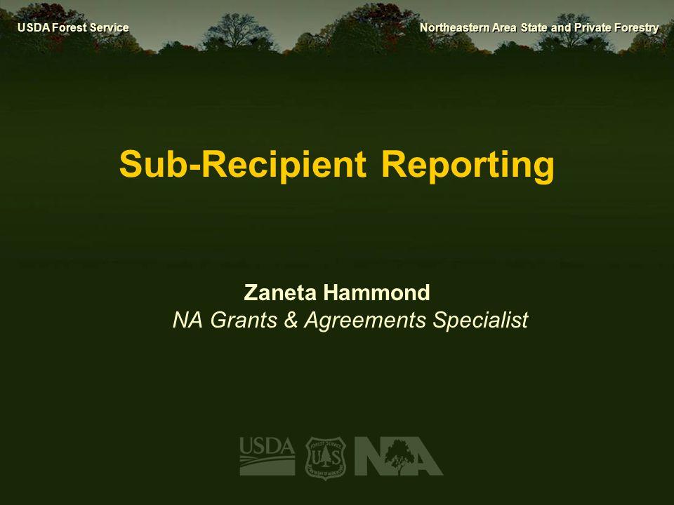 Sub-Recipient Reporting