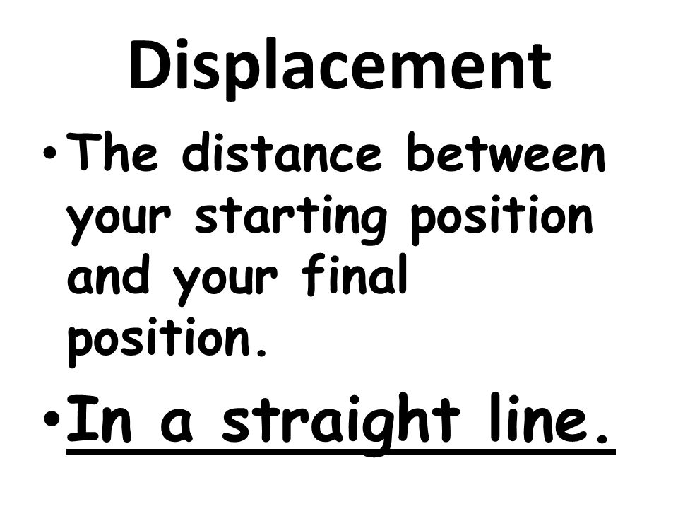 Displacement In a straight line.