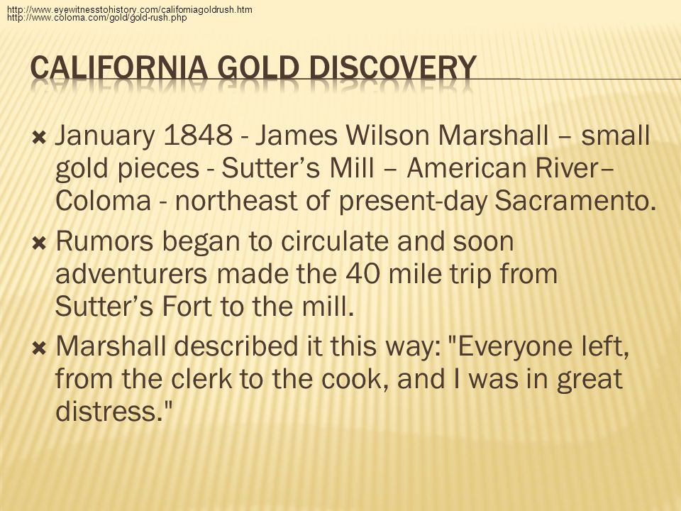 California gold discovery