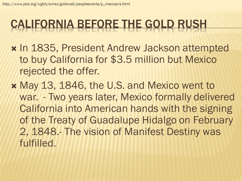 California before the gold rush