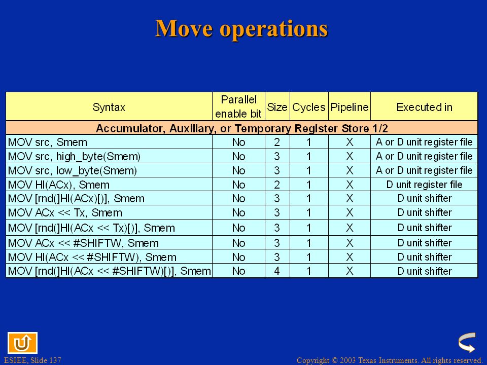 Move operations