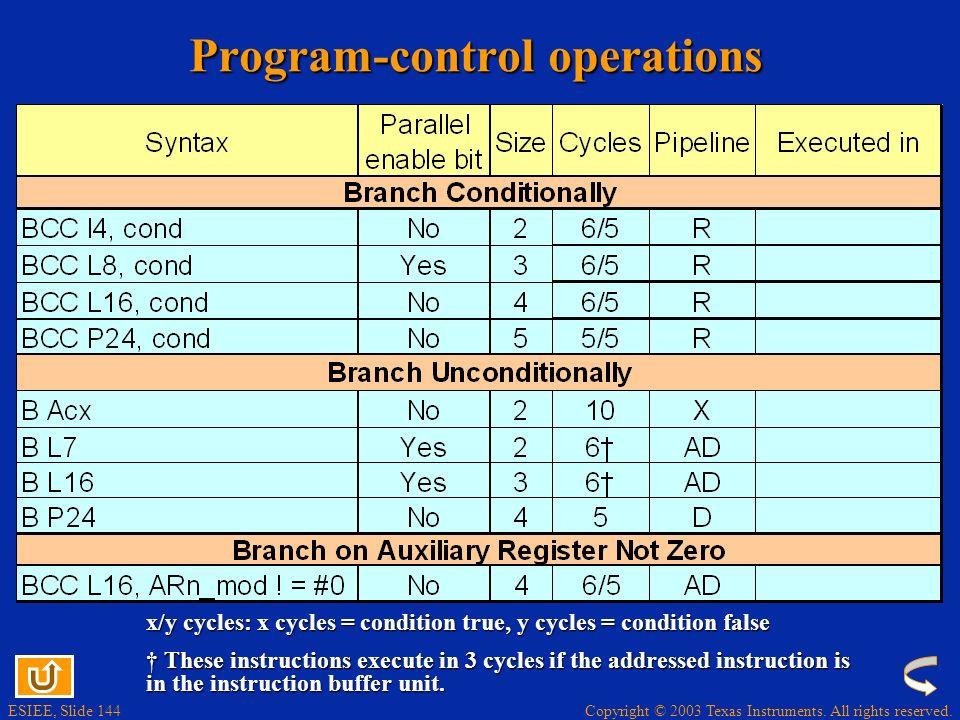 Program-control operations